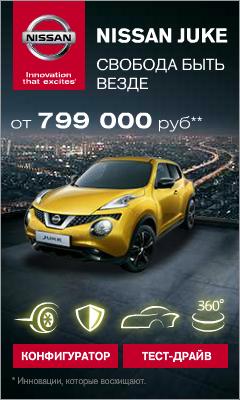 Nissan Juke  от 799 000
